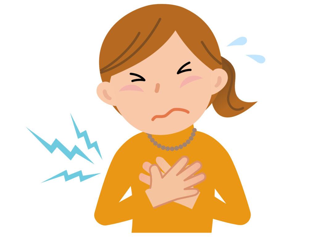 胸の痛み 部位と原因